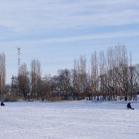 На замёрзшей реке, Новая Усмань