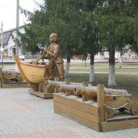 Новохоперск - Деревянная скульптура Петра I, Новохоперск