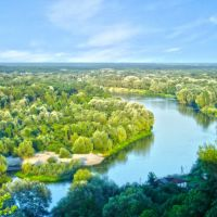 Река Хопер вид с холма, Новохоперск