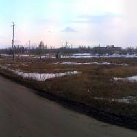 Вид на пожарный пруд и Таловскую больницу, Таловая