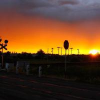 Sunset on Railroad - Переезд, Терновка