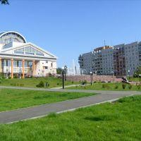 Театр Драмы, фонтан, сквер, Саров