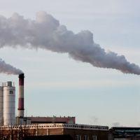 Дым из труб ТЭЦ (2012.02.09), Балахна