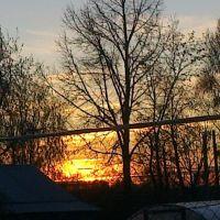 Закат на огороде, Большое Мурашкино