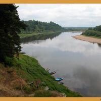 Река Ветлуга с высокого берега у Варнавино, Варнавино