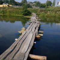Река Кишма. Колоритный мостик :), Ворсма