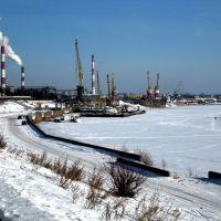 Речной порт зимой, Дзержинск