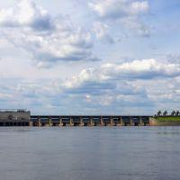 Заволжье. ГЭС. Панорама нижнего бьефа., Заволжье