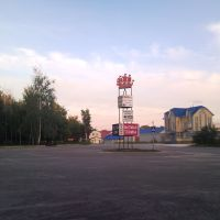 Parking in front of the store, Навашино