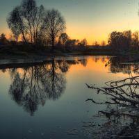 Осенний закат на Кузьминском, Павлово