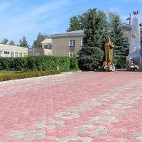Памятник памяти погибшим во Второй Мировой Войне в центре Сеченово, Сеченово