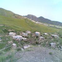 Внизу село Вачи, а в дали село Кая, Вачи