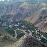 Кикуни, вид с горы, которая рядом субботным Базаром, Гергебиль