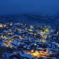 Вечерний Гуниб зимой., Гуниб