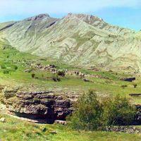 Развалины аула(фото 1904 года!!!).Фотограф:Прокудин-Горский., Гуниб