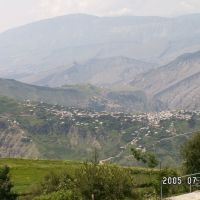Karata-Roso.Прекрасный вид с Тукита на Селение Карата, Карата