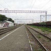 Станция Кизил-Юрт, Вид на запад, Кизилюрт