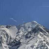 Ледник на вершине горы Базардюзи, Курах