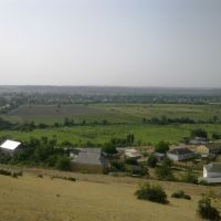Яраг-казмаляр. вид с Гапцахских вершин, Магарамкент