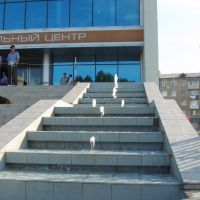 Фонтан на лестнице ДК Россия, Махачкала