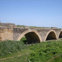 Старый мост через реку Гюльгерычай. The  ancient bridge over the Gyulgerychay river, Советское
