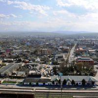 Панорама Хасавюрта. На переднем плане - железнодорожная станция, Хасавюрт