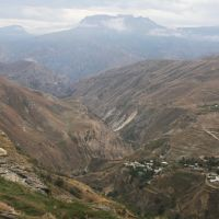 Дагестан. Хунзах. Вид на селение Хини. Dagestan. Khunzakh. View on village Hini., Хунзах