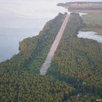 Панорама ВПП с выездом из воды. м, Верхний Ландех