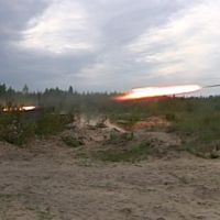 GRAD - Bu-Bum..Combined-arms night-time training. Russia.Mulino. 2009, Верхний Ландех