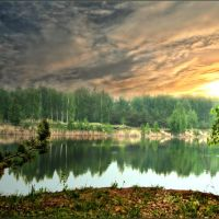 вечер на озере., Верхний Ландех