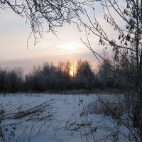 зимний закат, Гаврилов Посад