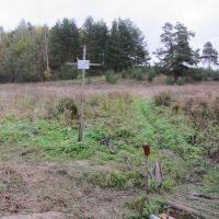 Место, где стояла Тихоновская церковь деревни Мостечное., Дуляпино