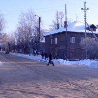 Перекресток улиц Люлина и Спортивной  Lyulina St. and Sportivnaya St. Crossroads, Комсомольск