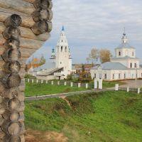 Вид на Собор Троицы Живоначальной от недоделанной крепости, Лух
