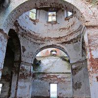 Фрагмент интерьера Троицкой церкви погоста Троицкого., Сокольское