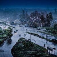 Майский снег, Саянск