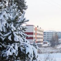 school 4 in the winter, Саянск