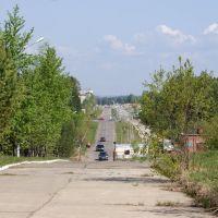 дорога от больничного комплекса, Саянск