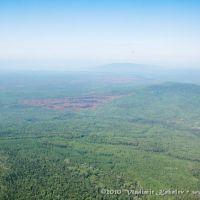 Вид на тайгу с высоты птичьего полета, Чунский