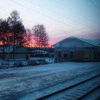 Станция Алзамай. Раннее утро. - Alzamay station., Алзамай