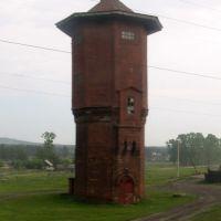 Старая водонапорная башня на станции Алзамай, Иркутская область, 10.06.2012, Алзамай