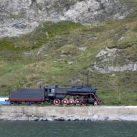 Steam locomotive in port Baykal., Байкал