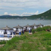 Вид на поселок Никола, Байкал