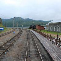 72-й км КБЖД. Конечная станция Байкал. Вид в сторону тупиков, Байкал
