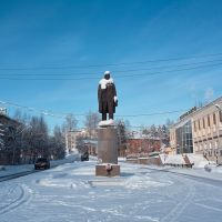 Lenin in Bodaybo. Сold weather, however., Бодайбо
