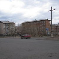 Main Street, School Number 2 on the right., Вихоревка