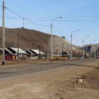 На въезде с южной стороны в село Еланцы, Иркутская область., Еланцы