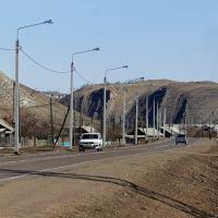 Дорога через село Еланцы, Иркутская область., Еланцы