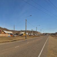 Иркутская область. Въезд в село Еланцы, Еланцы