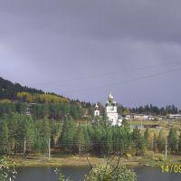 Вид на церковь из 7-5, Железногорск-Илимский